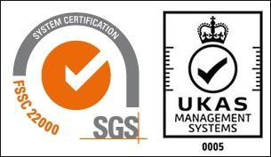 FSSC22000 with UKAS logo
