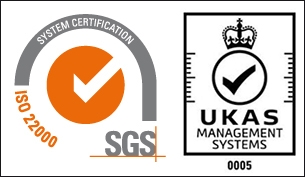 ISO22000 with UKAS logo